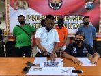 Unit Reskrim Polsek Binut saat Konfrensi Pers penangkapan 2 pelaku Curas