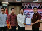Ketua ESI Kabupaten Bintan Kendy Agustin saat menerima mandat