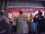 Kapolres Tanjungpinang AKBP M.Iqbal saat konfrensi Pers di Mako Polres