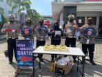 Gerai Masker Gratis yang dibuka oleh Satlantas Polres Bintan