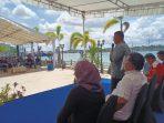 Cagub Kepri 2020 nomor urut 3 saat memberikan sambutan di Kegiatan Seminar di Batam