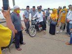 Cagub Kepri 2020 Ansar Ahmad saat di Pulau Kundur Kabupaten Karimun