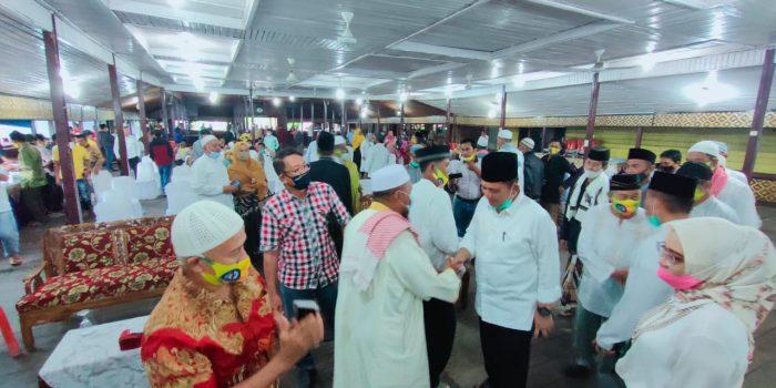 Cagub Kepri Ansar Ahmad saat kampanye di Natuna (Ujung Negeri) Indonesia