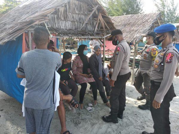Korban Fadila Sabrani saat sadar di Pantai Trikora IV Bintan