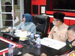 Walikota Tanjungpinang Rahma S.IP saat rapat bersama di Bappelitbang Kota Tanjungpinang