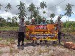 Jajaran Polres Bintan berikan Imbauan Stop Bakar lahan dan hutan