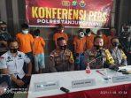 Kapolres Tanjungpinang AKBP Fernando saat Konfrensi Pers di Mapolres Taniungpinang