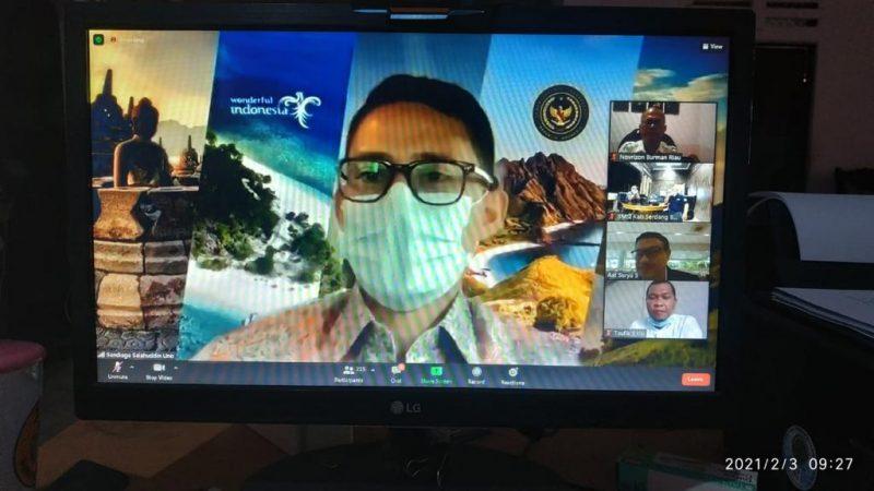 Menteri Pariwisata dan Ekonomi Kreatif (Menparekraf) Sandiaga Salahudin Uno