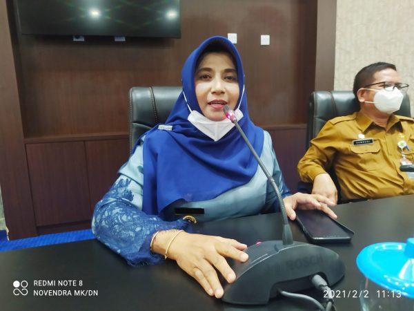 Walikota Tanjungpinang Rahma S.IP saat bertemu awak media