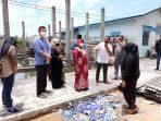 Walikota Tanjungpinang Rahma S.IP beserta OPD dan Tim tinjau lokasi pelantar yang roboh
