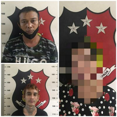 -3 pelaku tindak pidana narkotika yg berhasil dibekuk Polisi