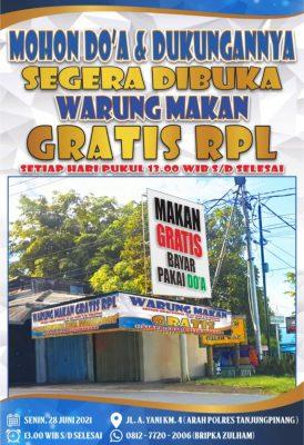 Warung Makan Gratis RPL Hadir di Tanjungpinang