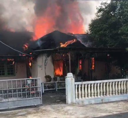 Poto kebakaran hasil screenshoot dari video amatir berdurasi 6 detik