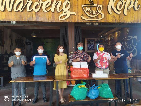 Komisi I DPRD Kota Tanjungpinang saat mengunjungi Posko ASPEC (Dapur Umum)