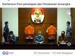 Screenshoot siaran langsung oleh KPK