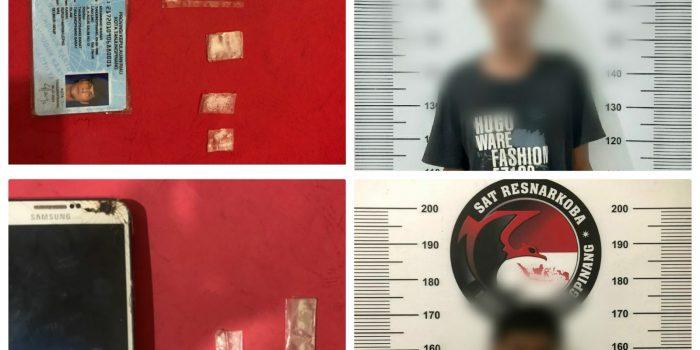 Dua pelaku yang berhasil diringkus Satres Narkoba Polres Tanjungpinang