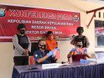 Konfrensi Pers oleh Ps Kasi Humas Polres Bintan di Polsek Bintim
