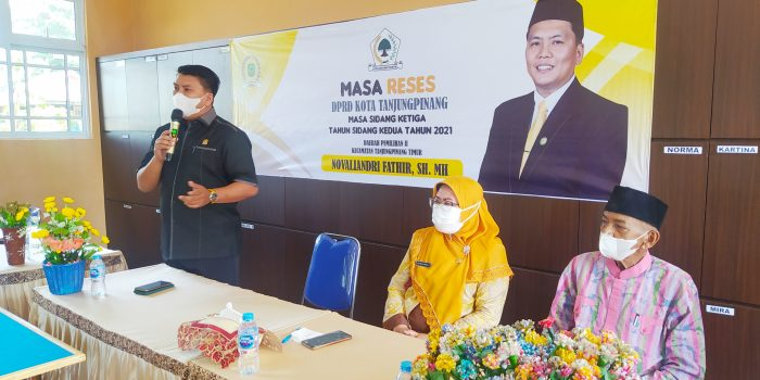 Masa Reses Anggota DPRD Kota Tanjungpinang, Waka I Novaliandri Fathir